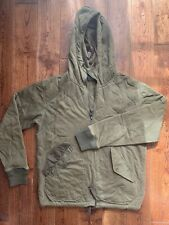 Ralph Lauren RRL WWII Inspired Onion Quilted Cotton Jersey Hoodie, Size M