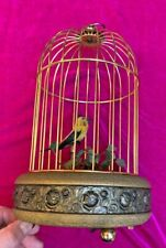 New ListingAntique mechanical Griesbaum German Automaton Brass Bird cage~tweeting~Flitting