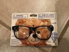 New ListingBuild a Bear Teddy Bear Accessory Black Frame Rimmed Clear Glasses New