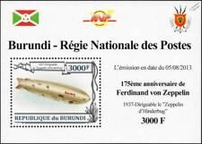 Luftschiff Zeppelin LZ.129 HINDENBURG Airship (Dirigible) Stamp Sheet #2 (2013)