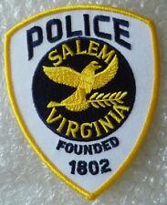 Patch- Salem Virginia Police Patch (NEW, 125 x 100 mm)