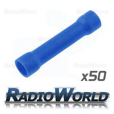 50x aislados azul tope conectores 1,5 - 2,5 empalme terminales de crimpeado eléctricos