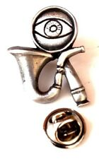 Sherlock Holmes Pipe & Eye Glass Handcrafted in English Pewter Lapel Pin Badge