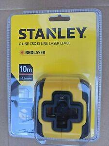 STANLEY C-LINE 10M CROSS LINE LASER LEVEL AND BRACKET