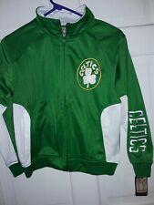 Boston Celtics basketball track jacket NBA shirt athletic coat NEW Youth Medium