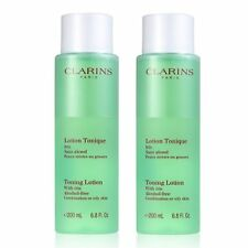 2PCS Clarins Toning Lotion with Iris 200ml Oily Combination Skin Toner Skincare