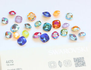 Genuine SWAROVSKI 4470 Square Fancy Stones Crystals * Many Colors & Sizes