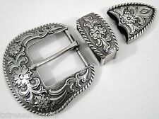 BELT BUCKLES metal casual dress western accessories 3pc BUCKLE SET 1.5 inch NWOT