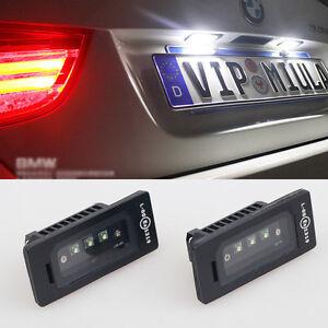 License Plate Light Kit CREE LED White No Error for BMW F84 E90 F30 E61 E60 F10