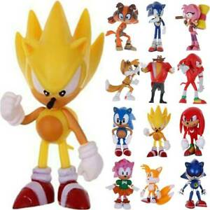 Kids Sonic the Hedgehog Action Figure PVC Game 6pcs Child Toy Cake Topper Decor