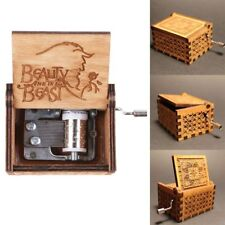Beauty and the Beast Music Box Handmade Engraved Wooden Music Box Kids Gift