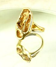 GOLD NUGGET RING *14 KARAT* SIZE 7-1/2 * 8.8 GRAMS c.1960'S