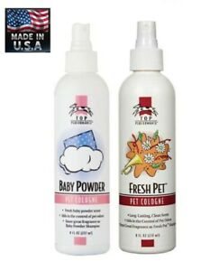 "Top Performance ""BABY POWDER""or ""FRESH PET""COLOGNE&DEODORANT SPRAY MIST Grooming"