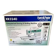 Brother Sewing Machine Quilting XR3240 Computerized 140 Stitches Mono Sealed