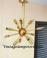 Vintage Decorative Brass Mid Century 12 Arms Sputnik chandelier Home Decor
