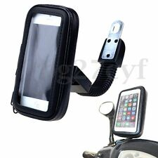 Waterproof Motor Bike Motorcycle Rear Mirror Cell Phone Holder Bag Case