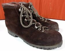 Men's Vtg Fabiano The Alps 360 Brown Suede Leather Hiking Ankle Boot Lace Up 8 N