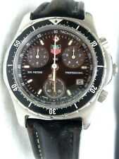 TAG HEUER 2000, CHRONOGRAPH 1/10, professional 200m BLACK leather band