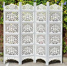 Indian Vintage Screen Shabby Chic Hand Carved Timber Room Divider