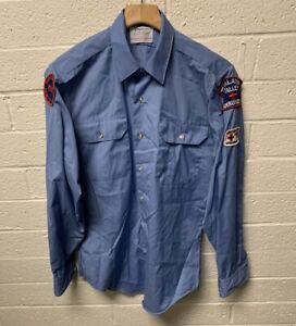 VTG 70's Oregon State EMT Tualatin Valley Ambulance Uniform Shirt See Size