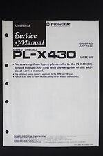 Pioneer pl-x430 Original stéréo tourne-disque Additional Manuel de