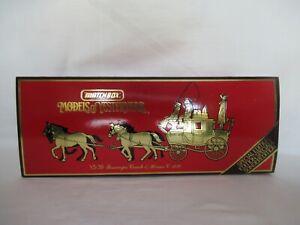 MATCHBOX MOY CIRCA 1820 PASSENGER COACH & HORSES SCALE 1:43 YS-39
