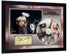 Lady Gaga The Fame Monster SIGNED FRAMED pre-PHOTO CD Disc Perfect gift