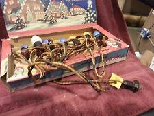 Vintage Christmas Lights GE C9 C-9 Swirl Noma  String 7 Bulbs Bakelite Mazda
