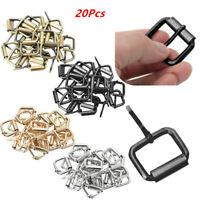 20Pcs_Metal Belt Webbing Shinning Roller Pin Buckles Hardware for Belt Strap Bag