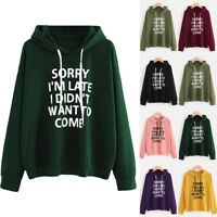 Women Hoodie Jumper Long Sleeve Letter Print Sweatshirt Pullover Tops Blouse Hot