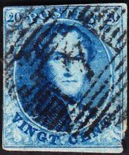 Belgium - 1851 - 20 Centimes Blue Leopold I  # 7b - Classic Stamp Nice Cancel