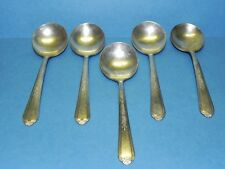 Set of Five Plymouth Silver Plate Soup Spoons_3819