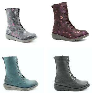 Heavenly Feet Martina2 Vegan Friendly Memory Foam Lace up Ladies Boot