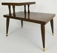 Mid-Century Modern 2 Tier Step End Table Retro Atomic Vintage