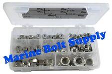 Stainless Steel Serrated Flange Nut Assortment Kit - Marine Bolt Supply 8-110614