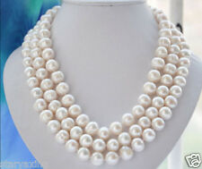 """100% Natural 10-11MM WHITE FRESHWATER Cultured PEARL NECKLACE 50"""""""
