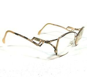 Cazal MOD.284 COL.607 Eyeglasses Glasses Frames Gold Black Striped Geometric 120