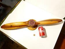 "French WW1 Chauviere Intergral Laminated Wood Propeller 30"" HERMES PARIS Clock"