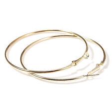 Large Round Ring Hoop Earrings Us 1/2Pairs Fashion Women Metal Big Circle Smooth