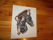 Hand Painted Zebra Felt Panel