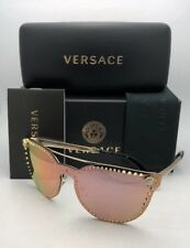 Versace Glam Medusa Pale Gold Rose Mirror Sunglasses Ve 2177 12524z