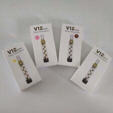 1pcs Portable V12 Mini Glass tube Twisty Blunt With Brush Kit Set Sealed Gold