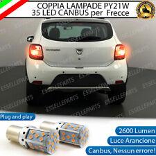 COPPIA LAMPADE PY21W CANBUS 35 LED DACIA SANDERO 2 FRECCE POSTERIORI NO ERROR