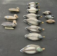 CARRY-LITE DUCK DECOYS FOLK ART HUNTING DECOYS CABIN DECORATIONS LOT OF 14
