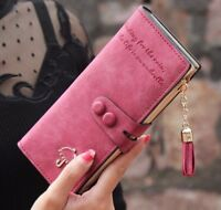 Wallet Fashion Long Zippers Tassels Leather Purse Bags ID Card Holders For Women