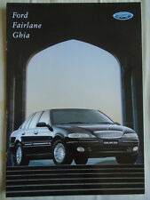 Ford Fairlane Ghia brochure Oct 1997 Australian market