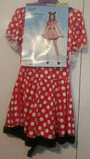 Womens Sassy Minnie Mouse Large 12-14 Halloween Costume Cosplay Dress Up  NEW