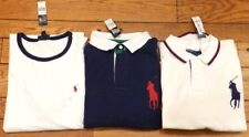 NWT 3 Shirt Lot Ralph Lauren Big Pony Polo Short Sleeve XXL 2XL Navy/Ivory NEW