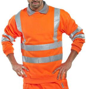 BSEEN BSSENORL Sweatshirt Orange Hi-Viz Size: Large work safety