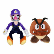 2pcs Super Mario Bros Goomba & Waluigi Plush Doll Figure Stuffed Animal Toy Gift